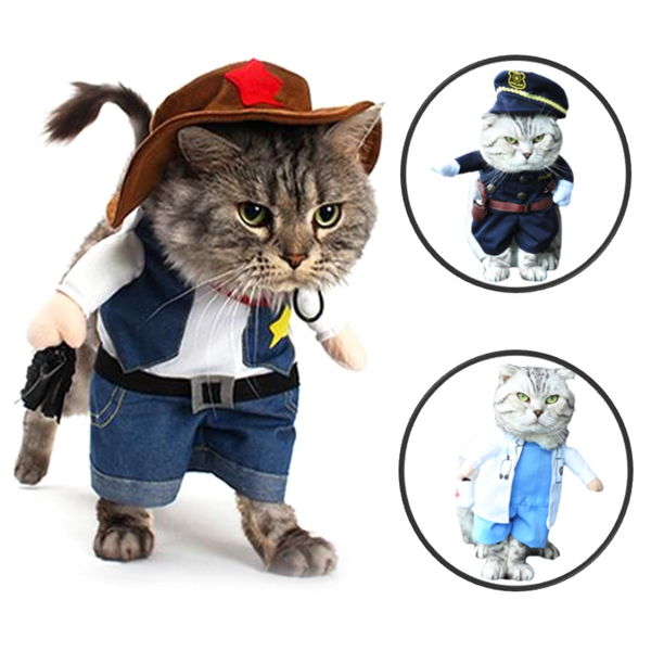 Doctor/Policeman/Cowboy Cat/Dog Costume