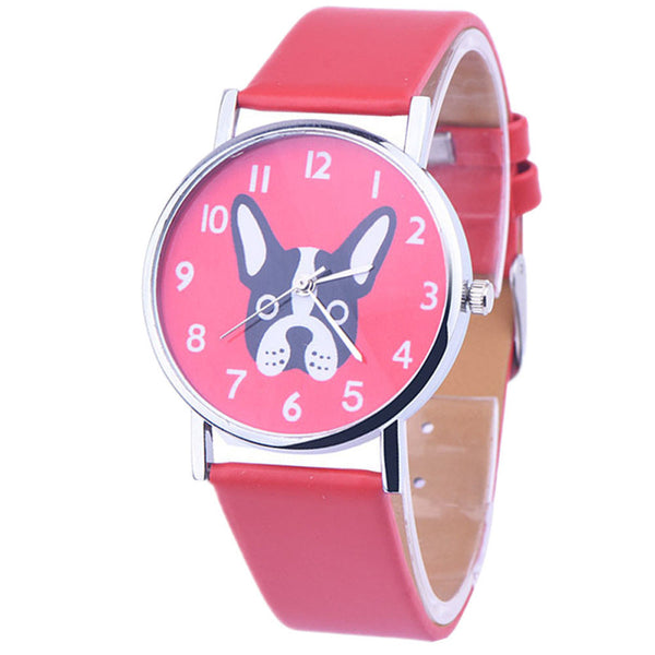 Dog Leather Girls Watch
