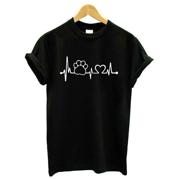 Paw Heartbeat Lifeline T-Shirt