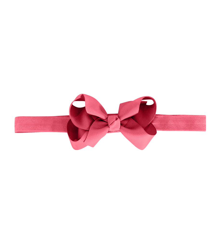 Medium Boutique Bow - Coral Rose