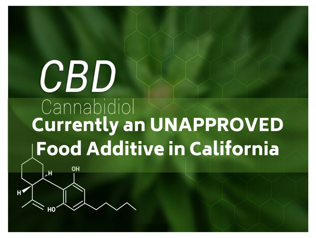 CBD can't be added as a food additive in Californa. Is this the end of CBD?
