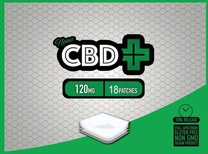 CBD 120 mg Patch - 18 CBD patches - Nano CBD Plus