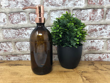 500ml Amber Glass Dispenser Bottle with Different Colour Pumps