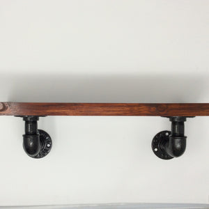 "Industrial Shelf Bracket 90 degree made from 1/2"" galvanized iron"