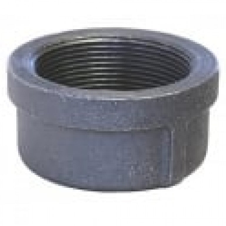 Black Malleable Galvanized Iron Round Cap