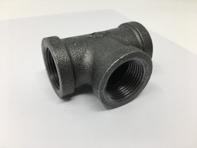 Black Malleable Galvanized Iron Tee
