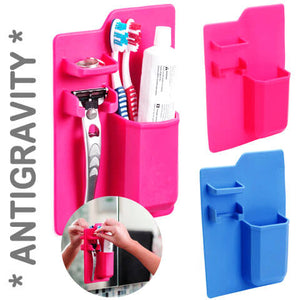 Antigravity Bathroom Organizer