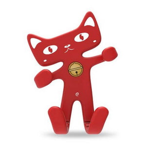 Cute Cat Phone Holder Red