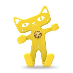 Cute Cat Phone Holder Yellow