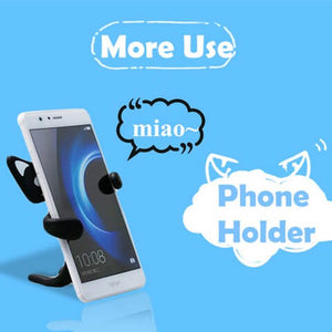 Cute Cat Phone Holder driving safely