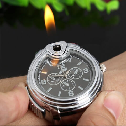 New Refillable Butane Lighter Watch