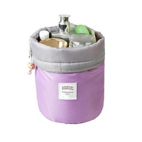 Nylon Barrel Bag Purple