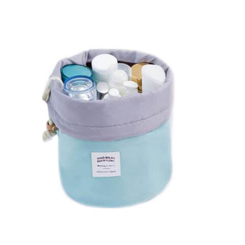Nylon Barrel Bag light blue