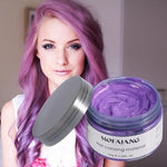 Professional Unisex Silver Ash Hair Wax Purple