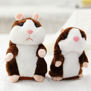 The Cutest Talking Hamster Plush Toy Dark Brown