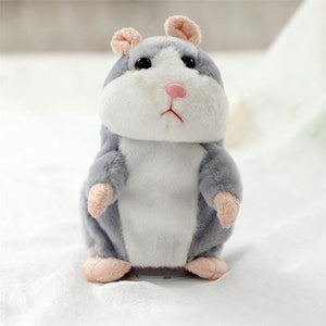 The Cutest Talking Hamster Plush Toy Gray