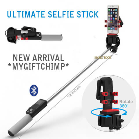 Ultimate Rotating Selfie 360° Stick via Bluetooth