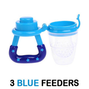 Wonderful Baby Fresh Fruit Pacifier 3 Pack Blue