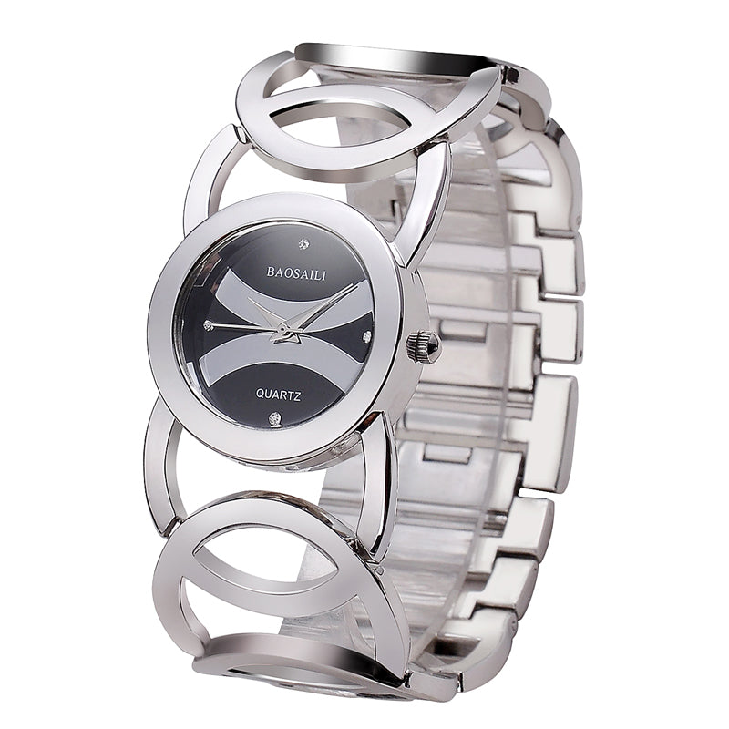 Extreme Circles Women Watch silver black