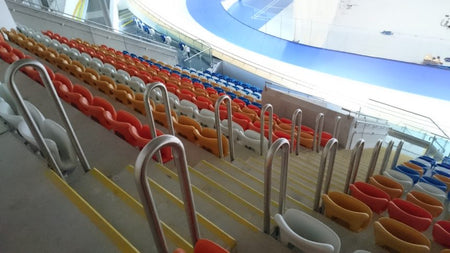 HANDRAIL BARRIERS FITTED AT DERBY ARENA VELODROME