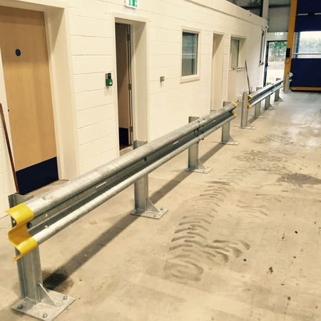 ARMCO CRASH BARRIER FITTED IN FENTON
