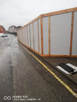 Timber Hoarding fitted in Nottingham