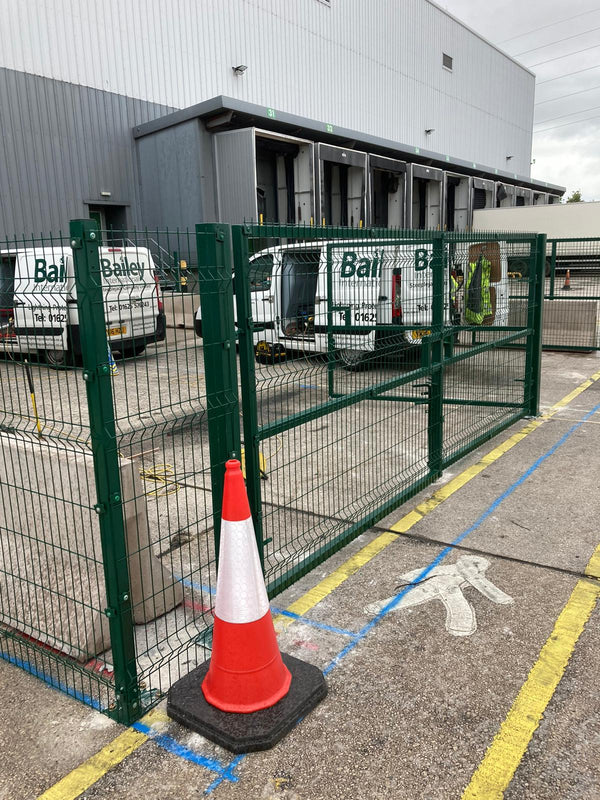 V-Defence Mesh Industrial Fencing Fitted in Liverpool