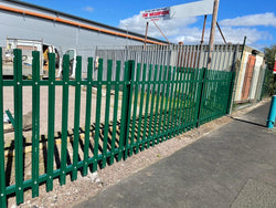 1.5M High Palisade Fencing for Nantwich Railway Station