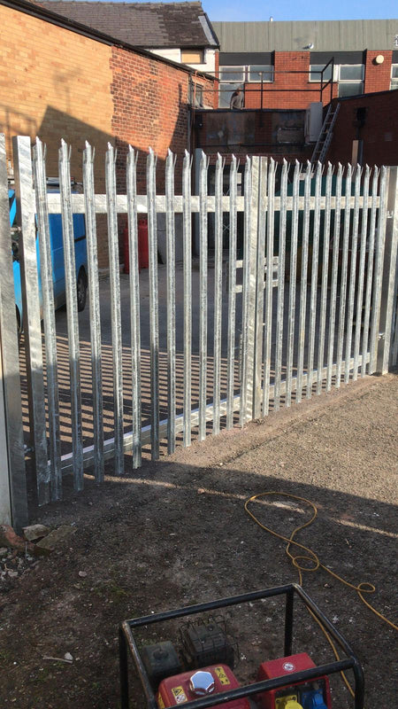 Set of Palisade Gates Fitted in Alsager