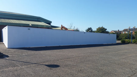 Site Hoarding at Leiston Leisure Centre