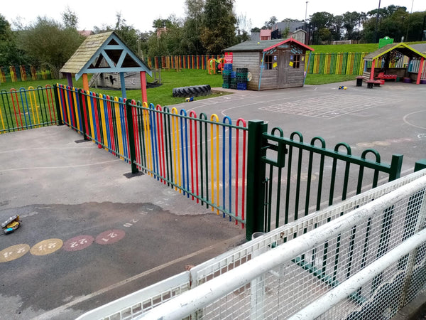 One for the Kids! Multicolour Flexi Rail Fitted at a School in Eccleshall!