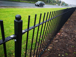 Marine Standard Powder Coated Vertical Railings fitted in Fleetwood, Lancashire!