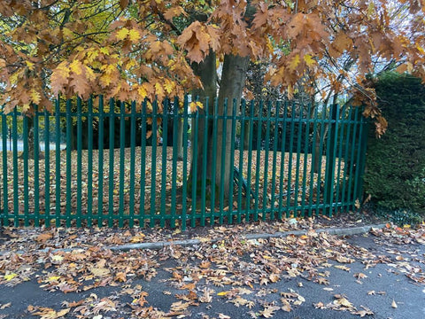 Palisade Fencing Installation for Christ Church School in Stone   trenthamfencing.co.uk