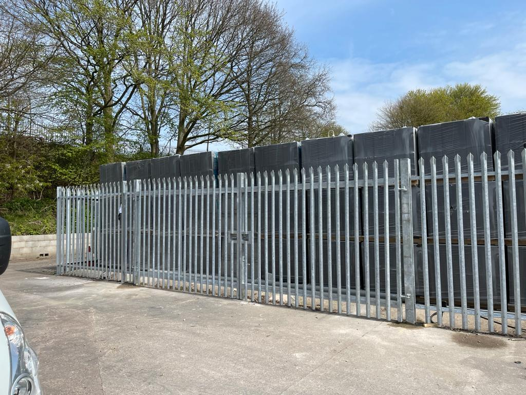 Palisade Fencing and Gates installed for Capital Roofing, Longport Industrial Estate