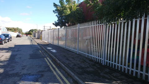 Palisade fencing & gate installation at the Wirral