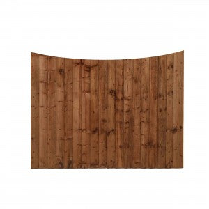 Scolloped Closeboard Fence Panel