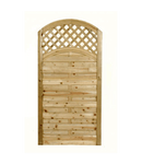 ARCHED LATTICE TOP GATE | Almec Fencing | UK Suppliers & Erectors of Domestic & Industrial Fencing