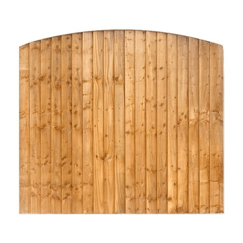 BOW TOP CLOSEBOARD FENCE PANEL |  AlmecFencing Limited | Stoke-on-Trent