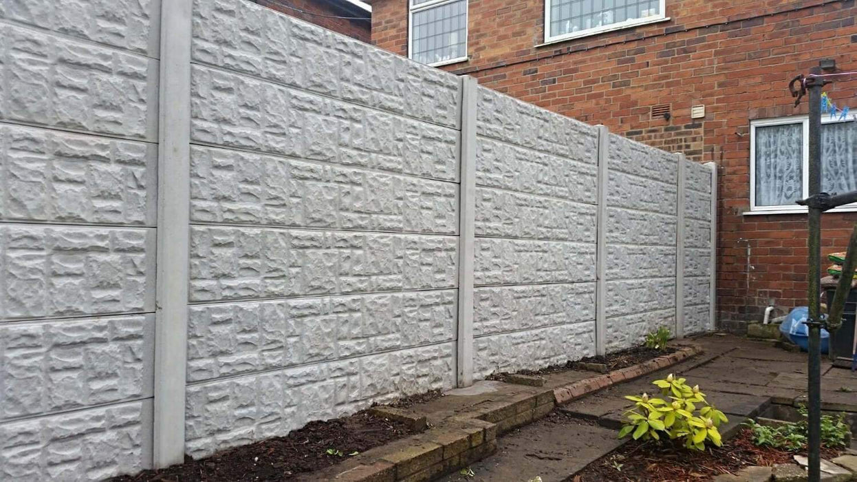 12 concrete gravel board almec fencing stoke on trent. Black Bedroom Furniture Sets. Home Design Ideas