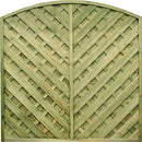 V' ARCHED FENCE PANEL | Almec Fencing | UK Suppliers & Erectors of Domestic & Industrial Fencing
