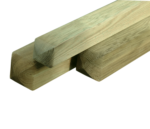 PLANED & RIBBED ROUNDED TOP 4 WAY PINE POST