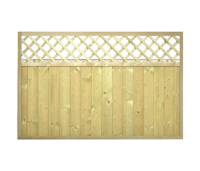 TONGUE & GROOVE LATTICE TOP FENCE PANELS | Almec Fencing | UK Suppliers & Erectors of Domestic & Industrial Fencing