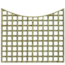 SCOLLOPED TOP TRELLIS FENCE PANEL | Almec Fencing | UK Suppliers & Erectors of Domestic & Industrial Fencing