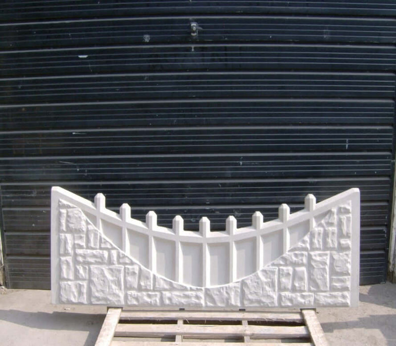 CASTLETOP BALUSTRADE CONCRETE GRAVEL BOARD | Almec Fencing | UK Suppliers & Erectors of Domestic & Industrial Fencing