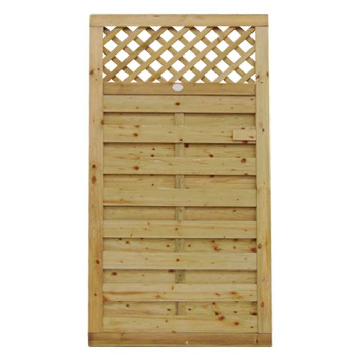 Horizontal Lattice Top Gate | Almec Fencing | UK Suppliers & Erectors of Domestic & Industrial Fencing