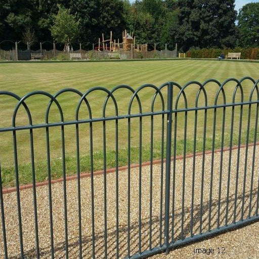 INTERLACED BOW TOP FENCING |  AlmecFencing Limited | Stoke-on-Trent