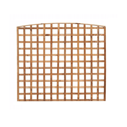 BOW TOP TRELLIS FENCE PANEL | Almec Fencing | UK Suppliers & Erectors of Domestic & Industrial Fencing