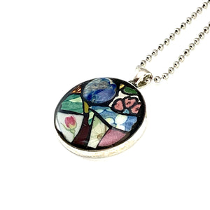 Earth and Flowers Pendant