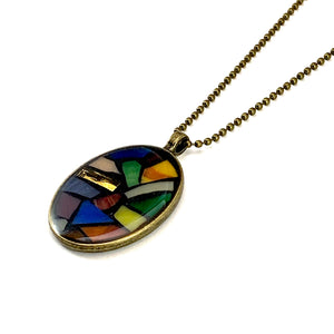Summer Sunset Stained Glass Pendant
