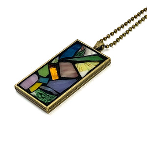 Spring Colors and Leaves Pendant